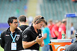 The Hague, Netherlands, June 08: After the field hockey group match (Men - Group B) between the Black Sticks of New Zealand and Germany on June 8, 2014 during the World Cup 2014 at Kyocera Stadium in The Hague, Netherlands.  Final score 3-5 (1-3) (Photo by Dirk Markgraf / www.265-images.com) *** Local caption ***