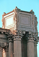 "Bernard Maybeck: Palace of Fine Arts--detail.  ""Eloquest expression to the mood of melancholy"".  Photo '83."