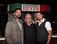 """HOLLYWOOD - MAY 29: Clayton Cardenas, Edward James Olmos and JD Pardo attend the FYC event for FX's """"Mayans M.C."""" at Neuehouse Hollywood on May 29, 2019 in Hollywood, California. (Photo by Frank Micelotta/FX/PictureGroup)"""