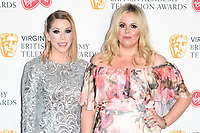 Katherine Ryan and Roisin Conarty in the winners room for the BAFTA TV Awards 2018 at the Royal Festival Hall, London, UK. <br /> 13 May  2018<br /> Picture: Steve Vas/Featureflash/SilverHub 0208 004 5359 sales@silverhubmedia.com