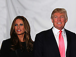 Melania and Donald Trump at Skating with the Stars (celebrities & Olympic skaters), a benefit gala for Figure Skating in Harlem on April 6, 2010 at Wollman Rink, Central Park, New York City, New York. (Photo by Sue Coflin/Max Photos)