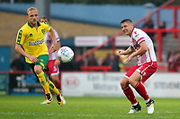 Harry Beautyman of Stevenage passes the ball upfield during Stevenage vs Norwich City, Friendly Match Football at the Lamex Stadium on 11th July 2017