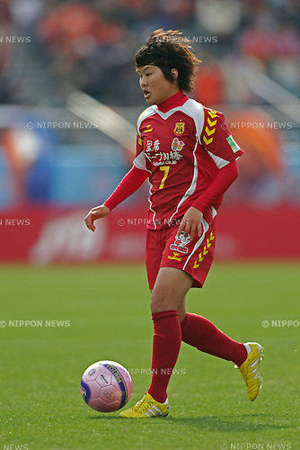 Ji So-Yun (Leonessa),.JANUARY 1, 2012 - Football / Soccer :.33rd All Japan Women's Football Championship final match between INAC Kobe Leonessa 3-0 Albirex Niigata Ladies at National Stadium in Tokyo, Japan. (Photo by Katsuro Okazawa/AFLO)