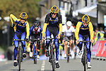 Team Sweden takes advantage of free practice on the Harrogate Circuit before the Men Elite Individual Time Trial of the UCI World Championships 2019 running 54km from Northallerton to Harrogate, England. 25th September 2019.<br /> Picture: Eoin Clarke | Cyclefile<br /> <br /> All photos usage must carry mandatory copyright credit (© Cyclefile | Eoin Clarke)
