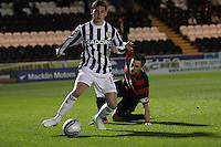 Kenny McLean in the St Mirren v Ayr United Scottish Communities League Cup match played at St Mirren Park, Paisley on 29.8.12.