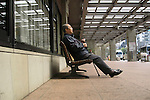 Apr 6, 2010 - Tokyo, Japan - A Japanese Alzheimer's disease patient is sitting in the front of The University of Tokyo Hospital on April 6, 2010. Recent investigations in the rural areas revealed that Alzheimer's disease in Japan occurred in about 3.5% of individuals aged 65 or more. An estimated 1 million Japanese have Alzheimer's disease today, according to the World Health Organization.