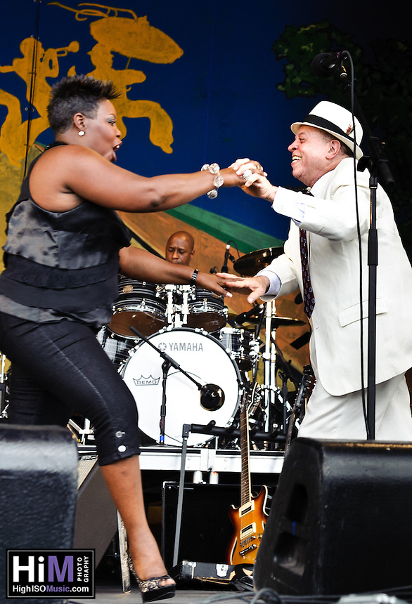 Deacon John and his band play at Jazz Fest 2011 in New Orleans, LA on day 3.