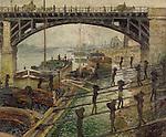 Claude Monet - The Coal-Dockers (1875). Paris, musée d'Orsay.