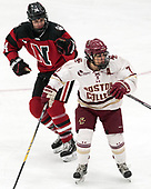 Hayley Scamurra (NU - 14), Kristyn Capizzano (BC - 7) -  The Boston College Eagles defeated the Northeastern University Huskies 2-1 in overtime to win the 2017 Hockey East championship on Sunday, March 5, 2017, at Walter Brown Arena in Boston, Massachusetts.
