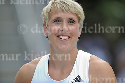 September 03, 2011 Olympic Stadium ,Berlin,Germany<br /> ISTAF (Internationales Stadionfest) IAAF World Challenge <br /> Javelin Throw Women,Germany`s  Christina Obergfoll wins the competition,ends her career