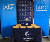 Pennants and Cup for the winners during the Preview of the AIG Cups & Shields Connacht Finals 2019 in Wesport Golf Club, Westport, Co. Mayo on Thursday 8th August 2019.<br /> <br /> Picture:  Thos Caffrey / www.golffile.ie<br /> <br /> All photos usage must carry mandatory copyright credit (© Golffile | Thos Caffrey)