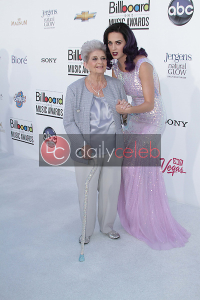 Katy Perry and her Grandmother<br /> at the 2012 Billboard Music Awards Arrivals, MGM Grand, Las Vegas, NV 05-20-12<br /> David Edwards/DailyCeleb.com 818-249-4998