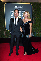 Eric McCormack and guest attend the 75th Annual Golden Globes Awards at the Beverly Hilton in Beverly Hills, CA on Sunday, January 7, 2018.<br /> *Editorial Use Only*<br /> CAP/PLF/HFPA<br /> &copy;HFPA/Capital Pictures