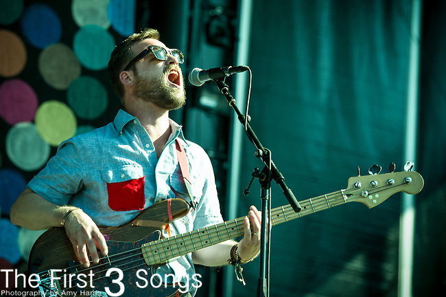 Toby Leaman of Dr. Dog performs during Day 1 of the 2013 Firefly Music Festival in Dover, Delaware.