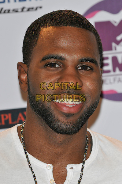 Jason Derulo.2011 MTV European Music Awards EMA press briefing and photocall, Odyssey Arena, Belfast, Northern Ireland..5th November 2011.headshot portrait white beard facial hair .CAP/PL.©Phil Loftus/Capital Pictures.