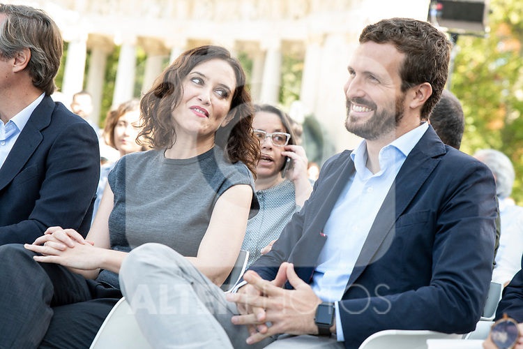 Pablo Casado and  Isabel Diaz Ayuso in the presentation of the Partido Popular program<br />  October 13, 2019. <br /> (ALTERPHOTOS/David Jar)