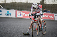David van der Poel  (NED/Beobank - Corendon) post-finish<br /> <br /> 2016 CX Superprestige Spa-Francorchamps (BEL)