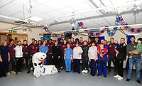 2018 12 18 Swansea Players Visit Morriston Hospital, Cwmrhydyceirw, Swansea, Wales, UK