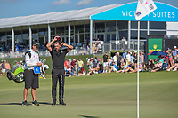 Henrik Stenson (SWE) waits to putt on 18 during round 4 of the AT&T Byron Nelson, Trinity Forest Golf Club, Dallas, Texas, USA. 5/12/2019.<br /> Picture: Golffile   Ken Murray<br /> <br /> <br /> All photo usage must carry mandatory copyright credit (© Golffile   Ken Murray)