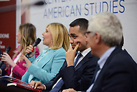 Roma, 23 Maggio 2017<br /> Maria Elena Boschi e Luigi di Maio.<br /> Presentazione del Libro: Sviluppo e Innovazione presso il Centro Studi Americani