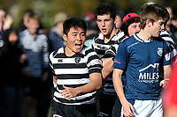 Action from the UC Championship 1st XV rugby match between St Andrew's College and Christ's College at St Andrew's College in Christchurch, New Zealand on Saturday, 3 August 2019. Photo: Martin Hunter / lintottphoto.co.nz
