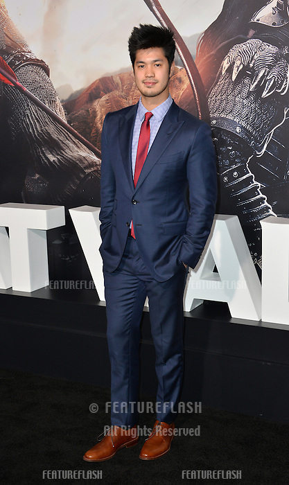Ross Butler at the premiere for &quot;The Great Wall&quot; at the TCL Chinese Theatre, Hollywood, Los Angeles, USA 15 February  2017<br /> Picture: Paul Smith/Featureflash/SilverHub 0208 004 5359 sales@silverhubmedia.com
