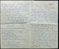 BNPS.co.uk (01202 558833)<br /> Pic: Gorringes/BNPS<br /> <br /> ****must use full byline****<br /> <br /> Letter from Reggie to Frances when he was in Wandsworth prison.