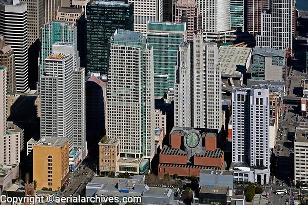 aerial photograph San Francisco Museum of Modern Art SFMOMA California architect Mario Botta
