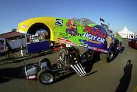Feb. 25, 2000; Chandler, AZ, USA; The NHRA funny car driven by Dale Creasy Jr during the CSK Nationals at Firebird International Raceway. Mandatory Credit: Mark J. Rebilas-