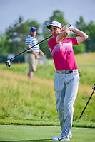 Ross Fisher (ENG) watches his tee shot on 12 during Thursday's round 1 of the 117th U.S. Open, at Erin Hills, Erin, Wisconsin. 6/15/2017.<br /> Picture: Golffile | Ken Murray<br /> <br /> <br /> All photo usage must carry mandatory copyright credit (&copy; Golffile | Ken Murray)