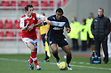 Darius Charles of Stevenage grapples with Jamie Devitt of Rotherham. Rotherham United v Stevenage - FA Cup 1st Round - New York Stadium, Rotherham - 3rd November 2012. © Kevin Coleman 2012.