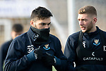 St Johnstone Training…05.02.19<br />Tony Watt and Liam Gordon pictured during training this morning at McDiarmid Park ahead of tomorrow's game at Hamilton<br />Picture by Graeme Hart.<br />Copyright Perthshire Picture Agency<br />Tel: 01738 623350  Mobile: 07990 594431