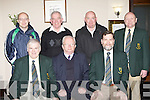 East Kerry officers at their AGM in the Killarney Hights Hotel on Thursday night front row l-r: Pat Delaney East Kerry Hurling Officer, Brendan Walsh President, Pat O'Brien. Back row: Tadgh Ahern Listry Secretary, Johnny Brosnan Fixtures Chairman, Paudie Breen Juveniles and Andy O'Sullivan Joint Treasurer