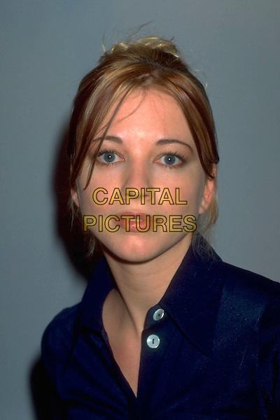 SARA COX.Ref: 4400.pre 2001.headshot portrait blue sarah.CAP/HT.©Hugh Thompson/Capital Pictures.
