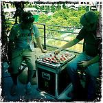 Roland Garros. Paris, France. May 28th 2012.Break time for cameramen .Des cameramen en pause