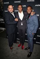 CULVER CITY, CA - MARCH 7: Arlen Escarpeta, Cory Hardrict, Guest, pictured at Crackle's The Oath Premiere at Sony Pictures Studios in Culver City, California on March 7, 2018. <br /> CAP/MPIFS<br /> &copy;MPIFS/Capital Pictures