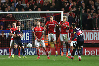 Danny Andrew of Doncaster curls a free-kick towards the Charlton goal during Charlton Athletic vs Doncaster Rovers, Sky Bet EFL League 1 Play-Off Football at The Valley on 17th May 2019