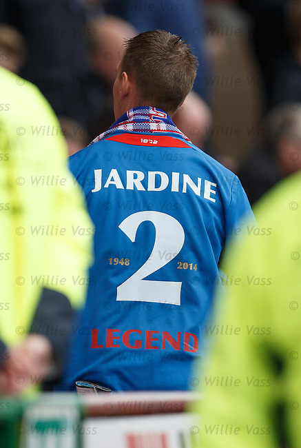 Rangers fan with Sandy Jardine shirt