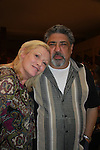 Cathy Moriarty (SoapDish & Raging Bull) poses with Sopranos Vincent Pastore at Chiller Theatre's Spring Spooktacular on the weekend of April 27-29 at the Hilton Parsippany in Parsippany, New Jersey. (Photo by Sue Coflin/Max Photos)