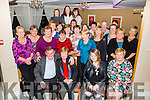 Monica O'Neill seated second from the left pictured here with family, friends and colleagues enjoying her retirement party in the Ring of Kerry Hotel on Friday night after 41 years working as a Ward Attendant at St Anne's Hospital, Cahersiveen.