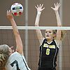 Sarah Corry #6 of Wantagh defends against a spike attempt by Diana Farrell #7 of Lynbrook during a Nassau County Conference A1 varsity girls volleyball match at Lynbrook High School on Thursday, Sept. 8, 2016. Wantagh won the match 3-1.