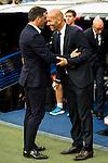 Real Madrid's player Zinedine Zidane and Celta de Vigo's player Eduardo Berizzo during a match of La Liga Santander at Santiago Bernabeu Stadium in Madrid. August 27, Spain. 2016. (ALTERPHOTOS/BorjaB.Hojas)