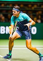 Rotterdam, The Netherlands, 12 Februari 2019, ABNAMRO World Tennis Tournament, Ahoy, first round singles: Milos Raonic (CAN), <br /> Photo: www.tennisimages.com/Henk Koster