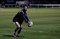 Ed Hoadley of London Scottish during the Championship Cup match between London Scottish Football Club and Yorkshire Carnegie at Richmond Athletic Ground, Richmond, United Kingdom on 4 October 2019. Photo by Carlton Myrie / PRiME Media Images