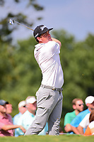 Keegan Bradley (USA) watches his tee shot on 17 during Saturday's round 3 of the PGA Championship at the Quail Hollow Club in Charlotte, North Carolina. 8/12/2017.<br /> Picture: Golffile | Ken Murray<br /> <br /> <br /> All photo usage must carry mandatory copyright credit (&copy; Golffile | Ken Murray)