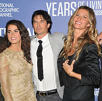 New York, NY- September 21: Nikki Reed, Ian Somerhalder, Gisele Bundchen attends National Geographic's 'Years Of Living Dangerously' new season world premiere at the American Museum of Natural History on September 21, 2016 in New York City.@John Palmer / Media Punch