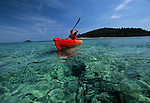 .Badidja island near Korcula. Kayak.Cruise in Croatia. Island of Dalmatia