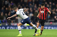 30th November 2019; Tottenham Hotspur Stadium, London, England; English Premier League Football, Tottenham Hotspur versus AFC Bournemouth; Toby Alderweireld of Tottenham Hotspur steals the ball from Dominic Solanke of Bournemouth  - Strictly Editorial Use Only. No use with unauthorized audio, video, data, fixture lists, club/league logos or 'live' services. Online in-match use limited to 120 images, no video emulation. No use in betting, games or single club/league/player publications