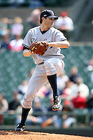 April 26, 2009:  Pitcher Jason Johnson (45) of the Scranton Wilkes-Barre Yankees, International League Class-AAA affiliate of the New York Yankees, during a game at the Frontier Field in Rochester, NY.  Photo by:  Mike Janes/Four Seam Images