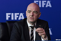 BOGOTÁ - COLOMBIA. 16-03-2018: Gianni Infantino presidente de  la FIFA atirende a losn periodistas durante rueda de prensa como parte del FIFA Council Meeting Bogotá realizado en el centro de conveciones Ágora de la ciudad de Bogotá. / FIFA president Gianni Infantino attends a press conference as part of the FIFA Council Meeeting on March 16, 2018 that take place in AGORA convention center in Bogota, Colombia. Photo: VizzorImage/ Alejandro Rosales / Cont
